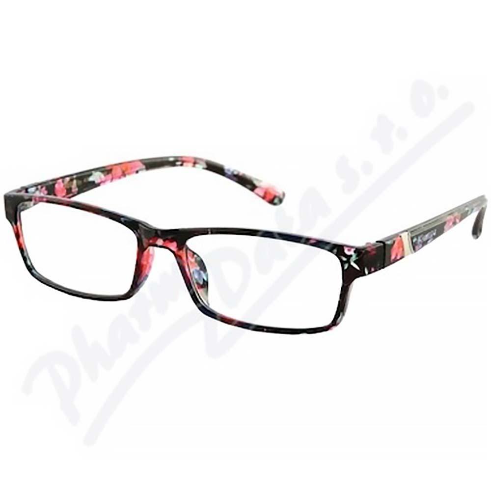 ae209c463 AMERICAN WAY brýle čtecí +1.00 černo-květinové - Lékárna.cz