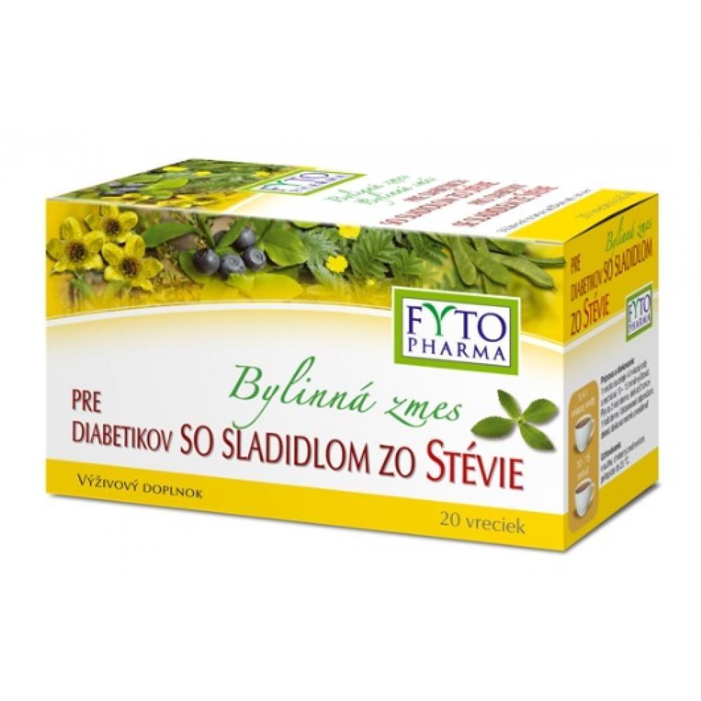 Bylinná směs pro diabetiky se sladidlem stevie 20 x 1.5 g Fytoph.
