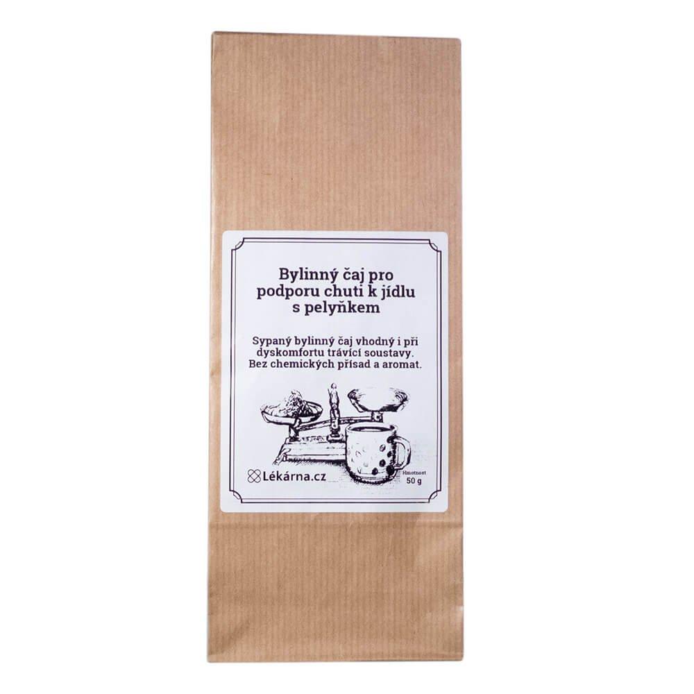 Bylinný čaj k podpoře chuti k jídlu s pelyňkem od LÉKÁRNA.CZ 50 g