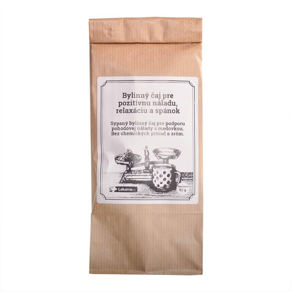 Bylinný čaj pre pozitívnu náladu, relaxáciu a spánok s medovkou od LÉKÁRNA.CZ 50 g