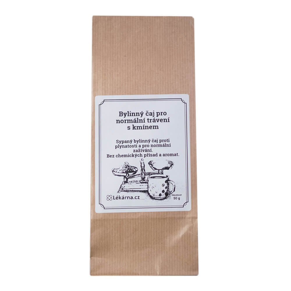 Bylinný čaj pro normální trávení s kmínem od LÉKÁRNA.CZ 50 g