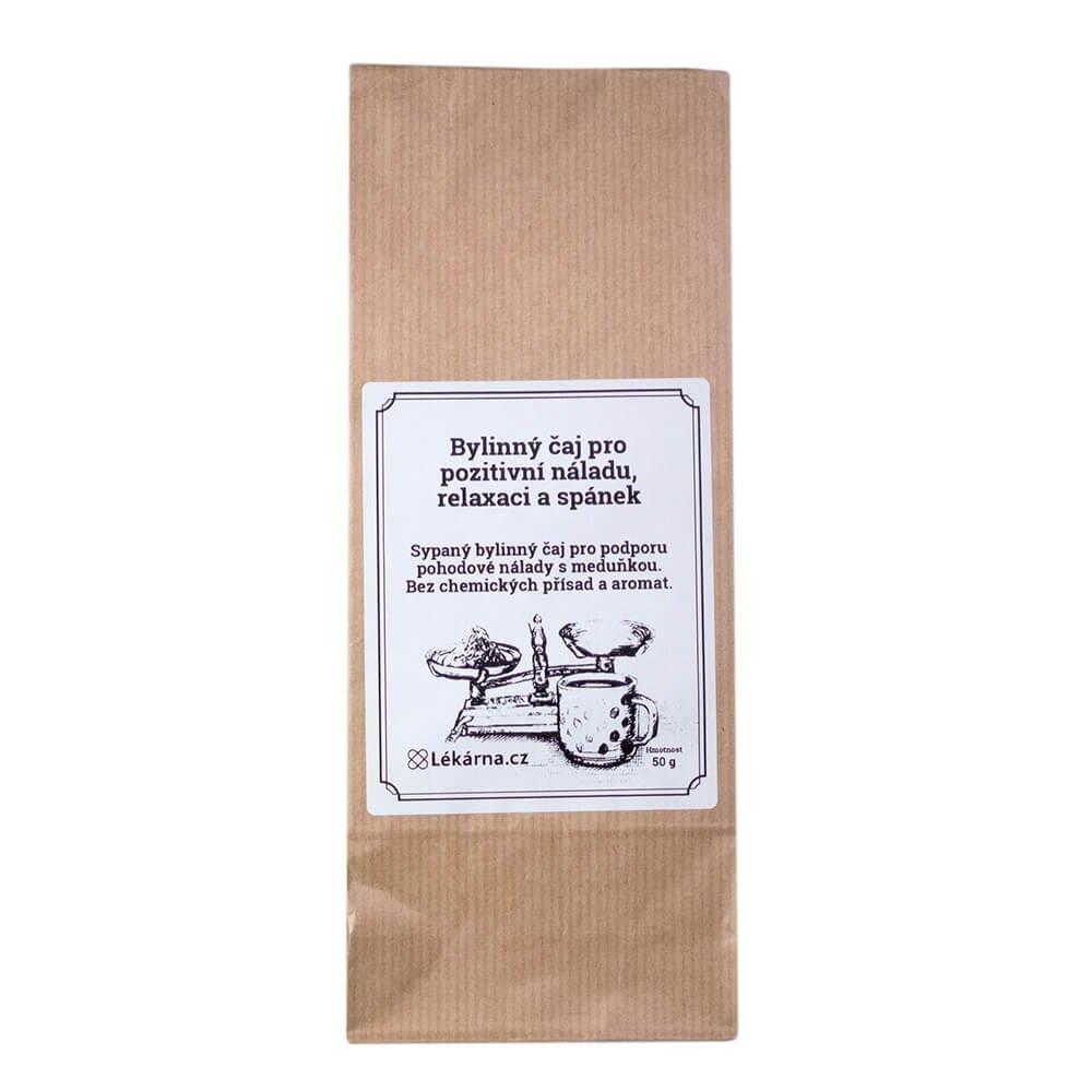 Bylinný čaj pro pozitivní náladu, relaxaci a spánek s meduňkou od LÉKÁRNA.CZ 50 g