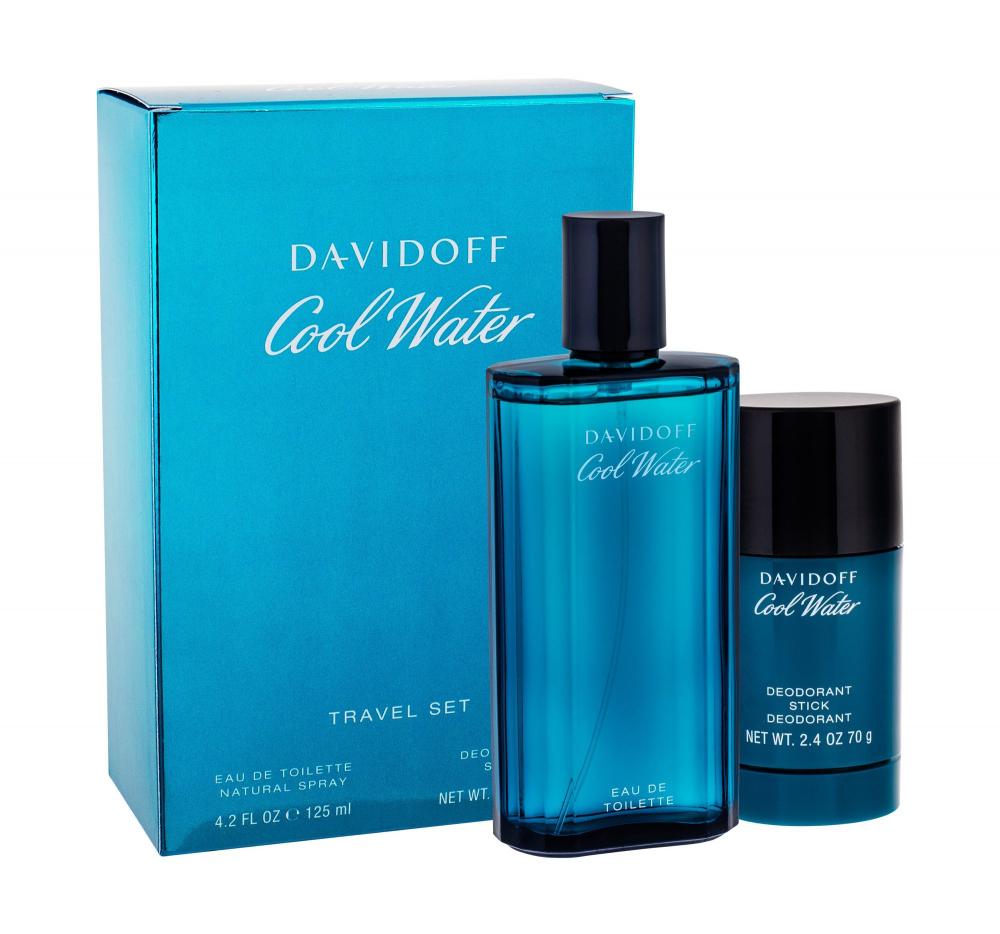 DAVIDOFF Cool Water Toaletní voda 125 ml + Deostick 75 ml