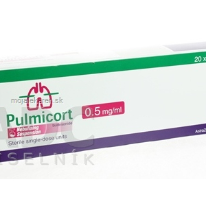 PULMICORT 0,5 MG/ML  20X2ML/1MG Suspenze k inhal.