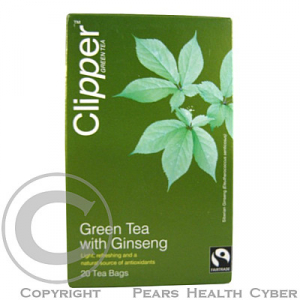 Čaj Clipper green tea with Ginseng 20x2g