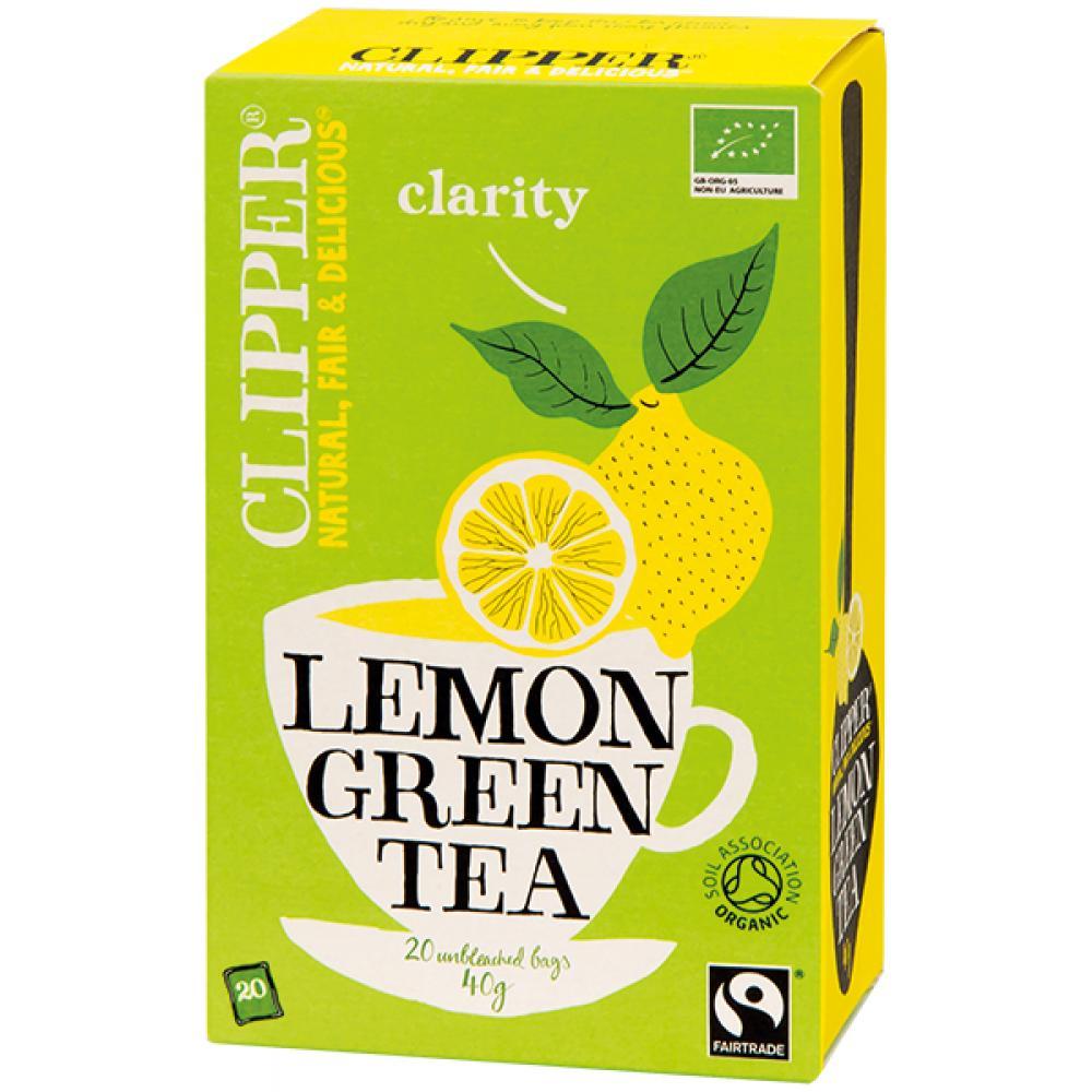 Čaj Clipper green tea with Lemon 20 x 2 g