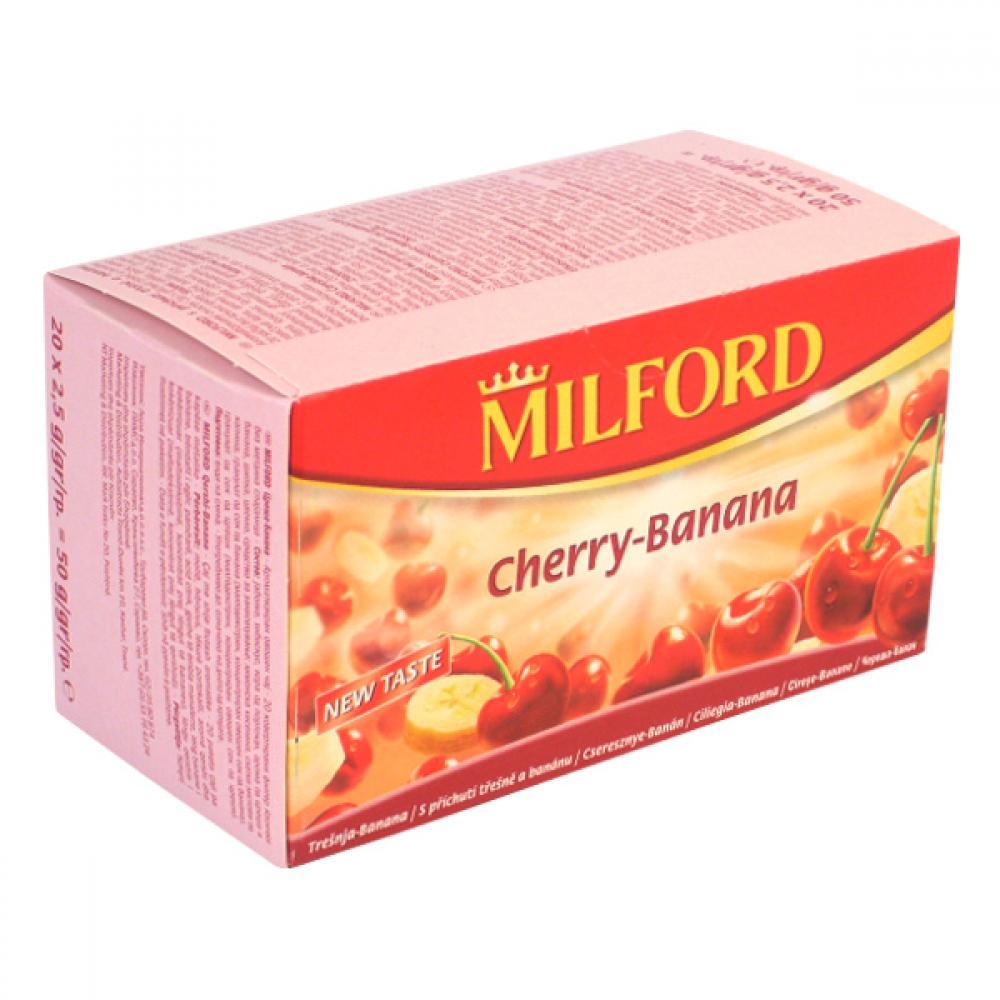 MILFORD Čaj ovocný Třešeň+banán 20x2,5g