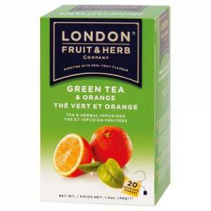 LONDON FRUIT & HERB Zelený čaj s pomerančem 20x2 g
