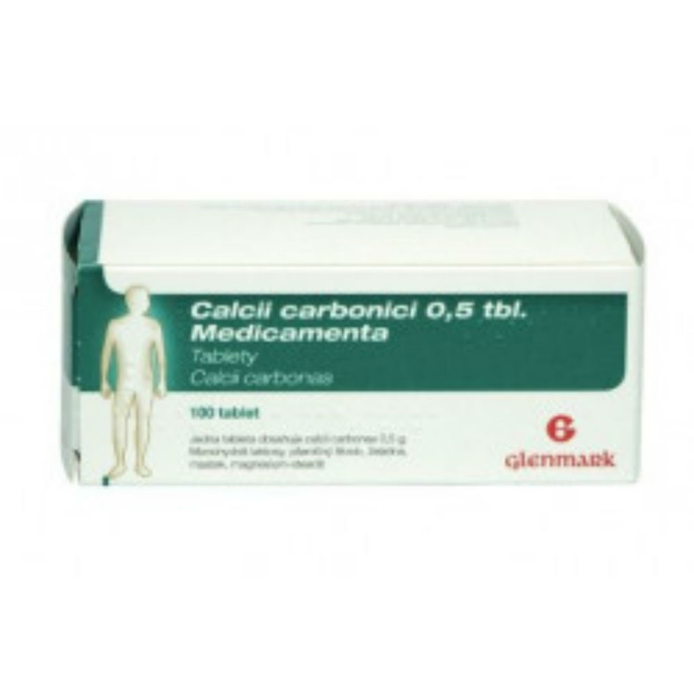 CALCII CARBONICI 0,5 TBL. MEDICAMENTA 100X0.5GM Tablety