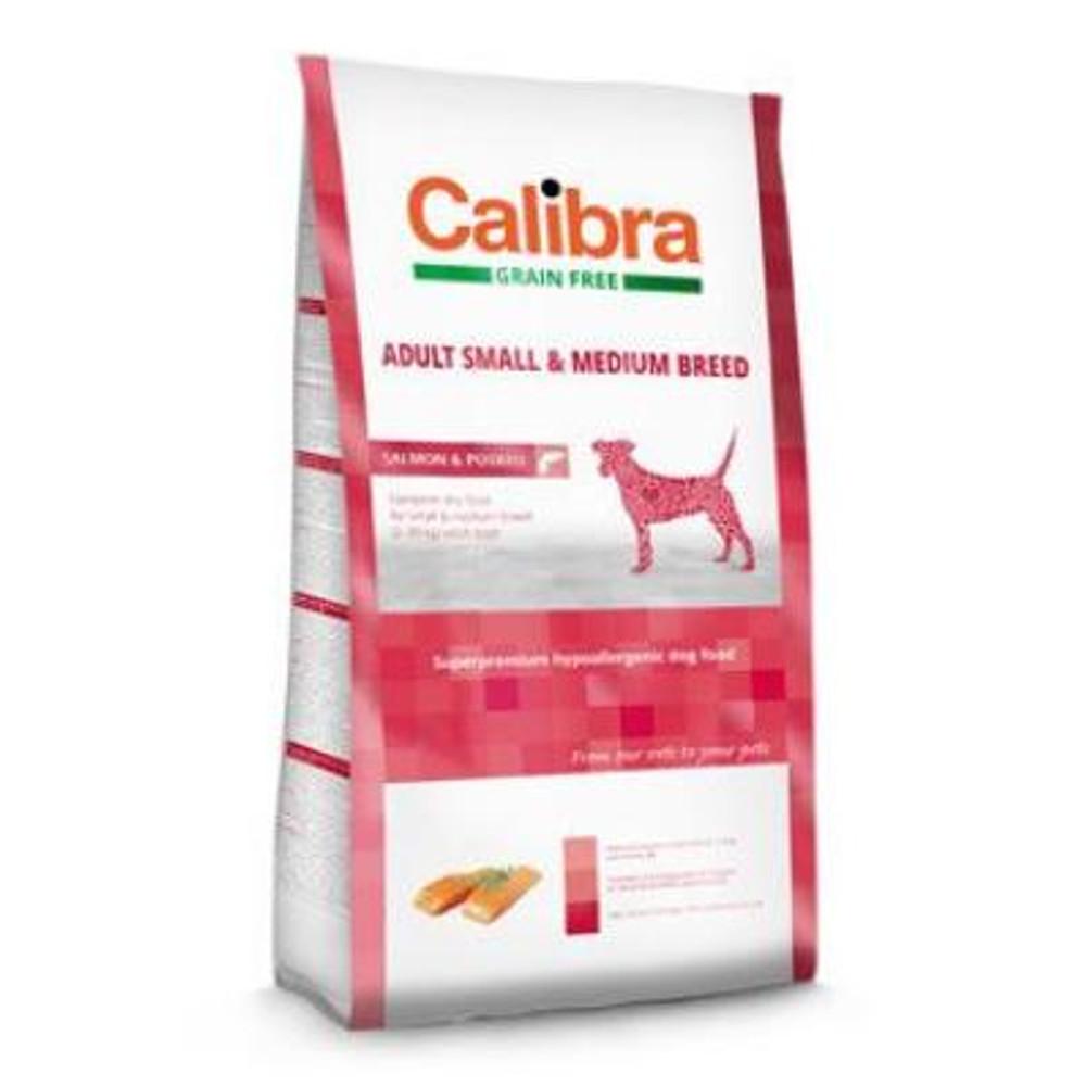 CALIBRA SUPERPREMIUM Dog GF Adult Medium & Small Salmon 2 kg