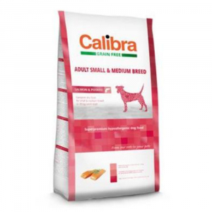 CALIBRA SUPERPREMIUM Dog GF Adult Medium & Small Salmon 2 kg