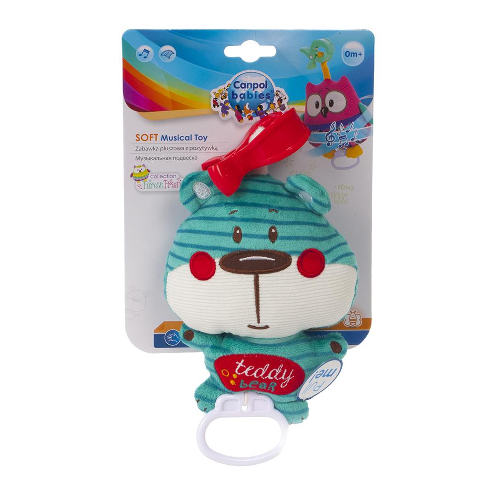 CANPOL BABIES plyšová hračka se zvuky FOREST FRIENDS modrý medvěd