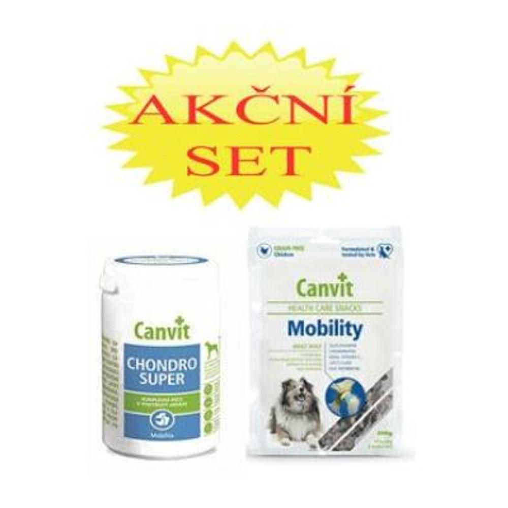 CANVIT Chondro Super pro psy 230 g + Canvit Snack Mobilit