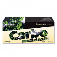 CARBO MEDICINALIS  20 X 250 mg tablety