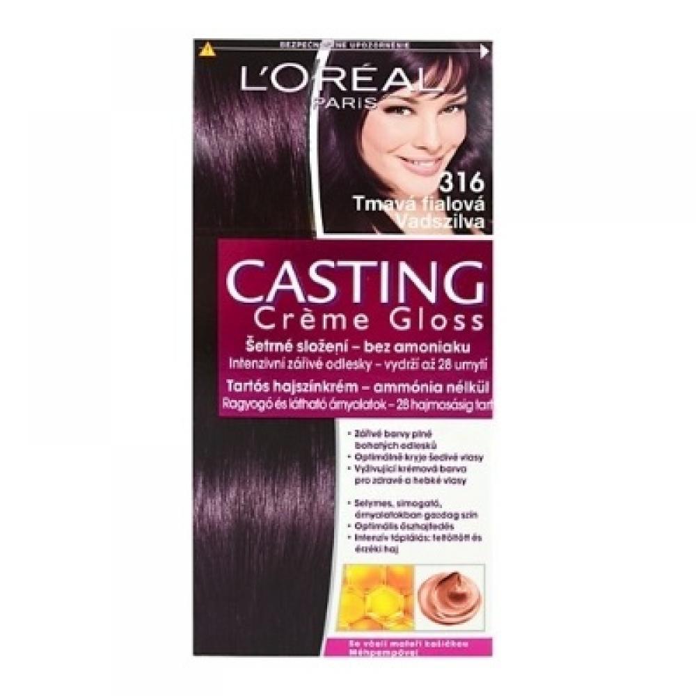 L'ORÉAL Casting Creme Gloss číslo 316 Tmavá fialová