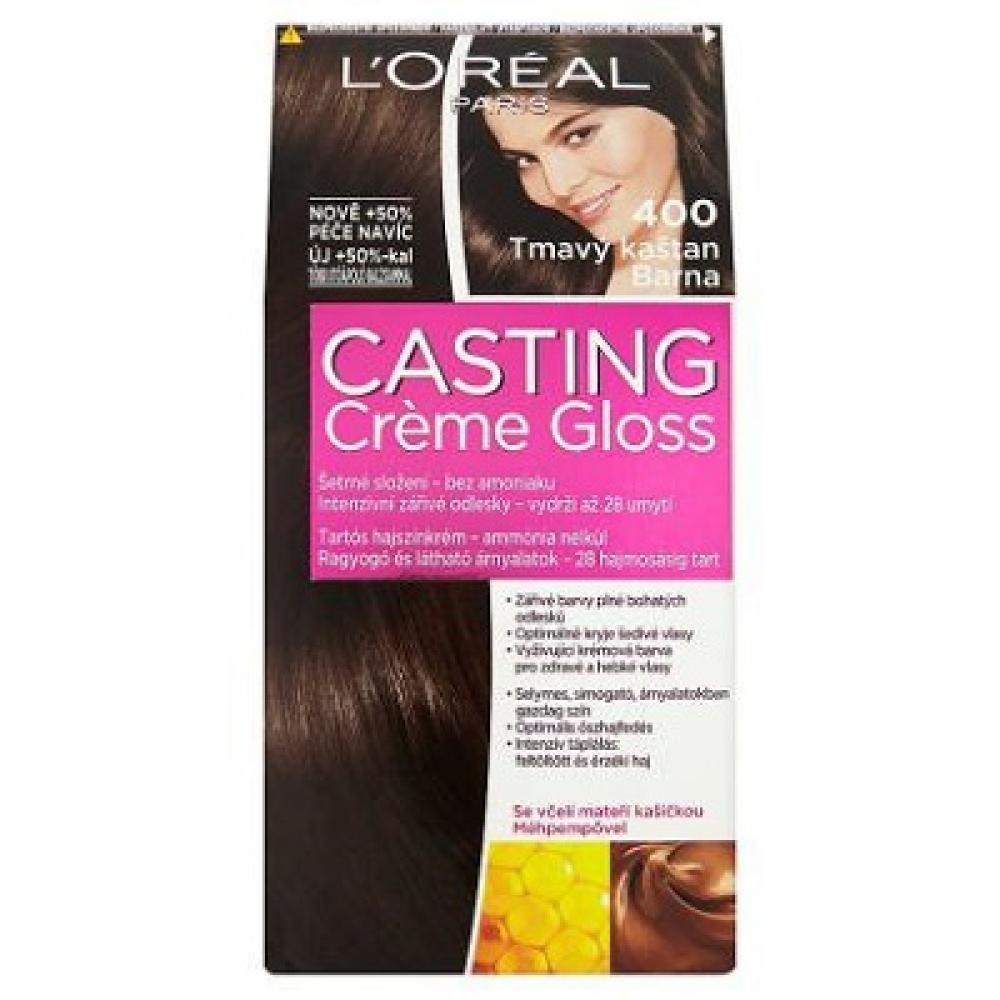 L'ORÉAL Casting Creme Gloss číslo 400 Tmavý kaštan