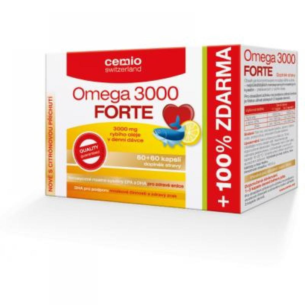 CEMIO Omega 3000 Forte s citrusem 60 tablet + 60 ZDARMA