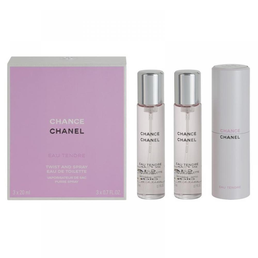 Chanel Chance Eau Tendre Toaletní voda 3x20ml náplně