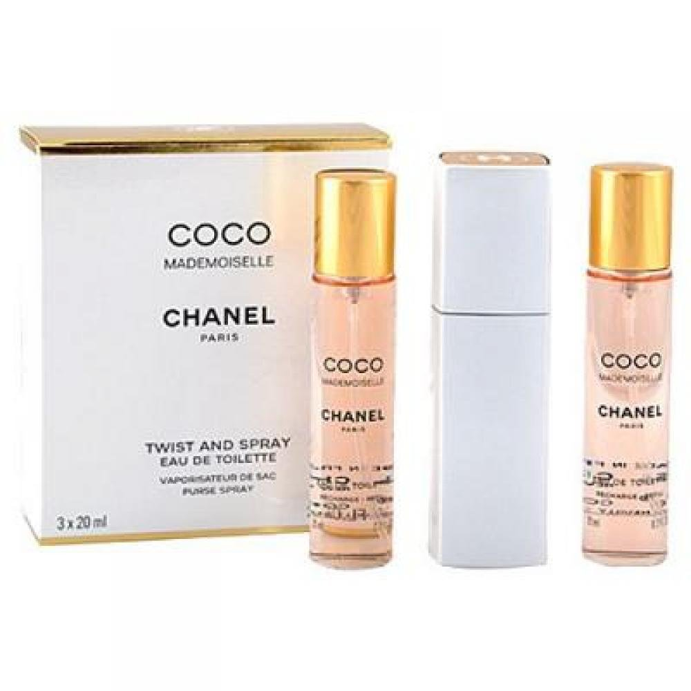 Chanel Coco Mademoiselle Toaletní voda 3x20ml twist and spray