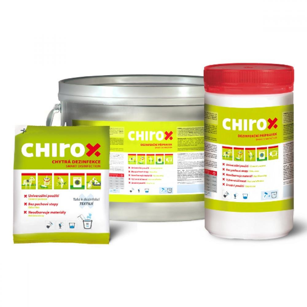 Chirox, dezinfekce účinná proti parvovirům
