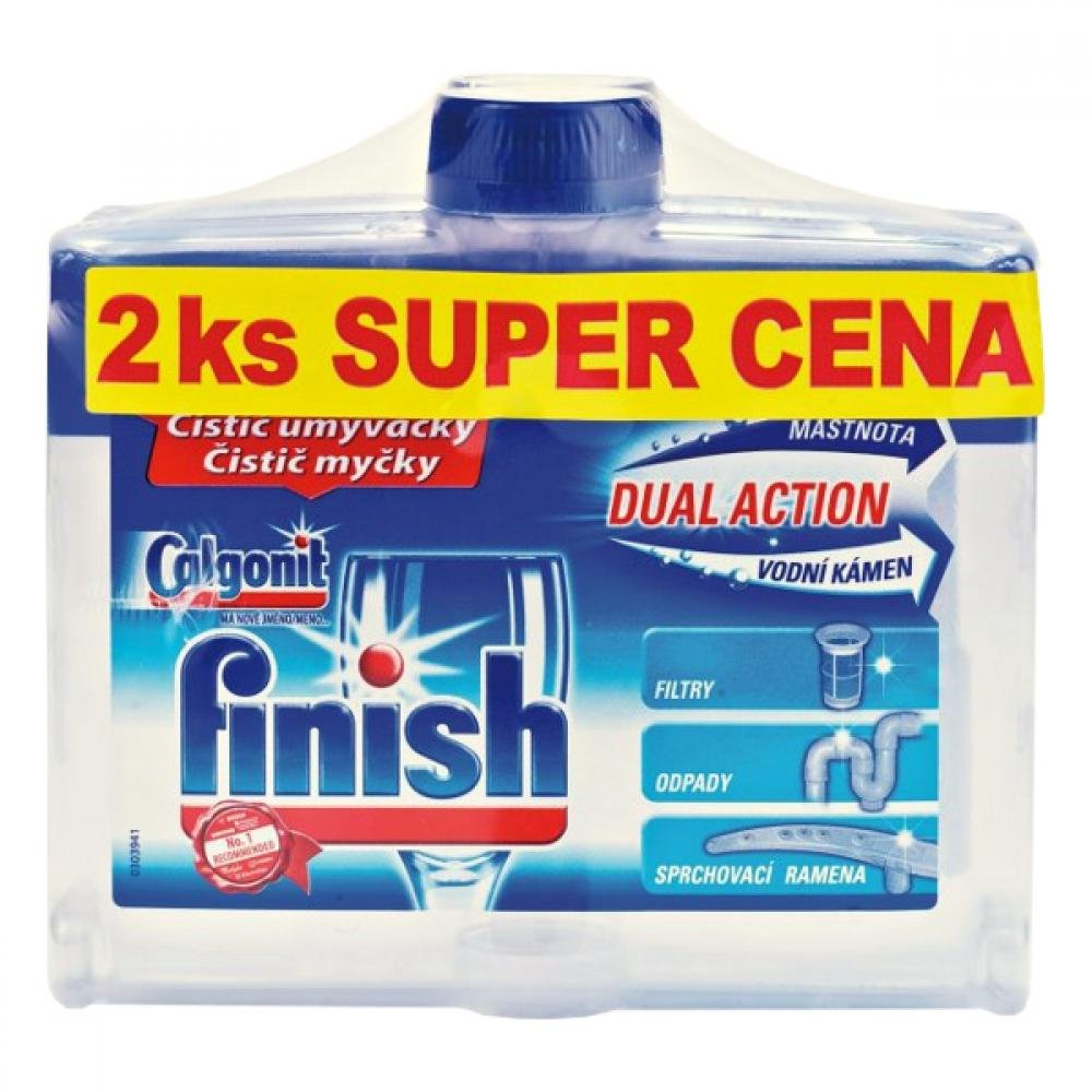 Čistič myčky FINISH DUO 250 ml