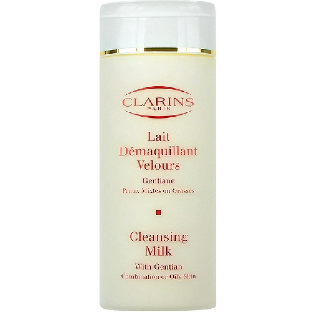 Clarins Cleansing Milk With Gentian 200ml Smíšená a mastná pleť