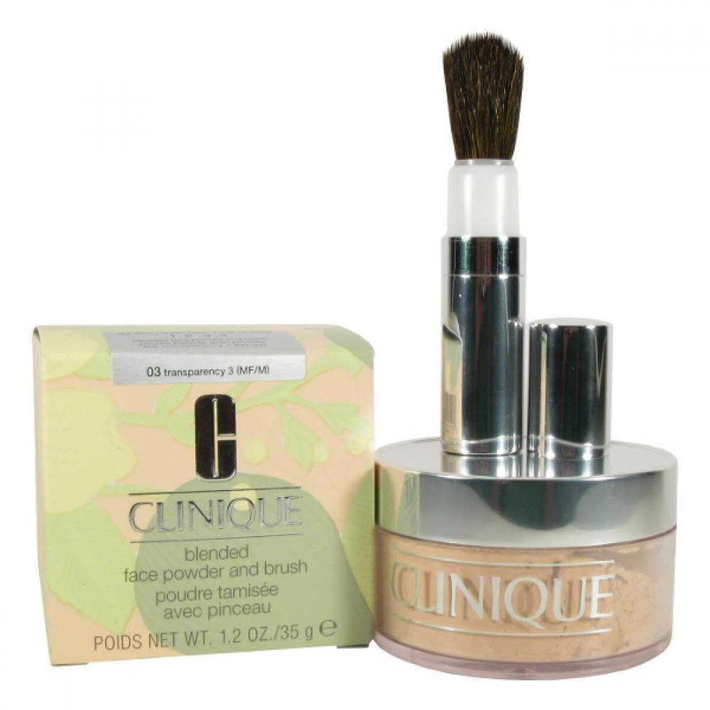 Clinique Blended Face Powder And Brush 03 35g Odstín 03 Transparency