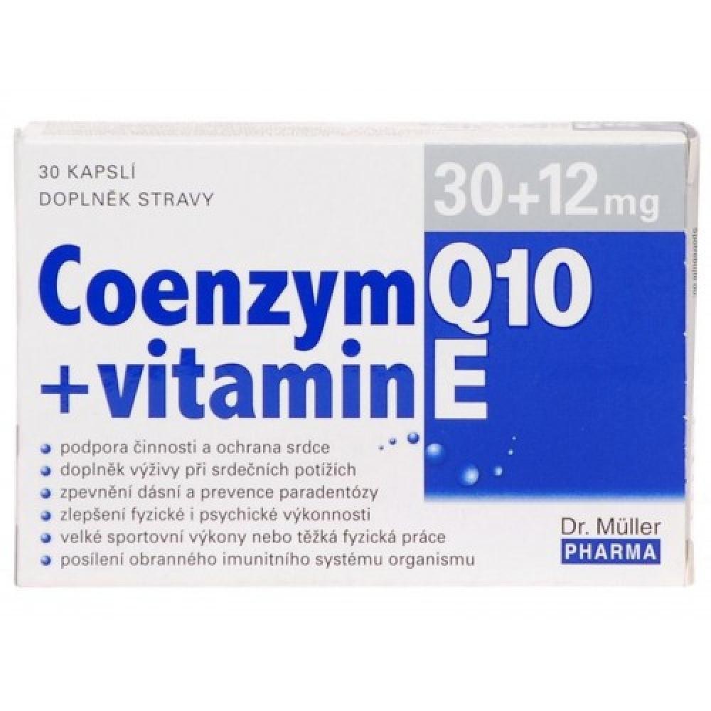 COENZYM Q10 30mg + vitamin E 12mg 30 kapslí