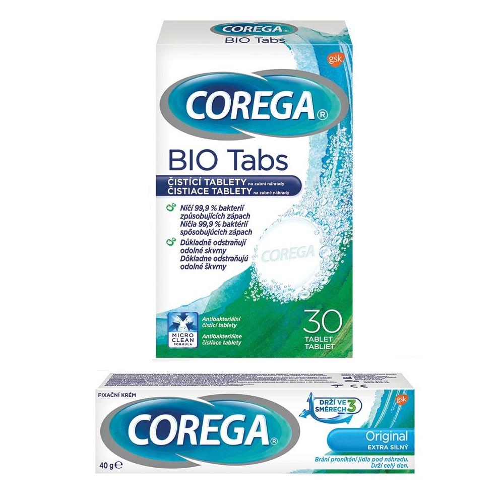 COREGA Original extra silný 40g + Bio tablety 30 ks