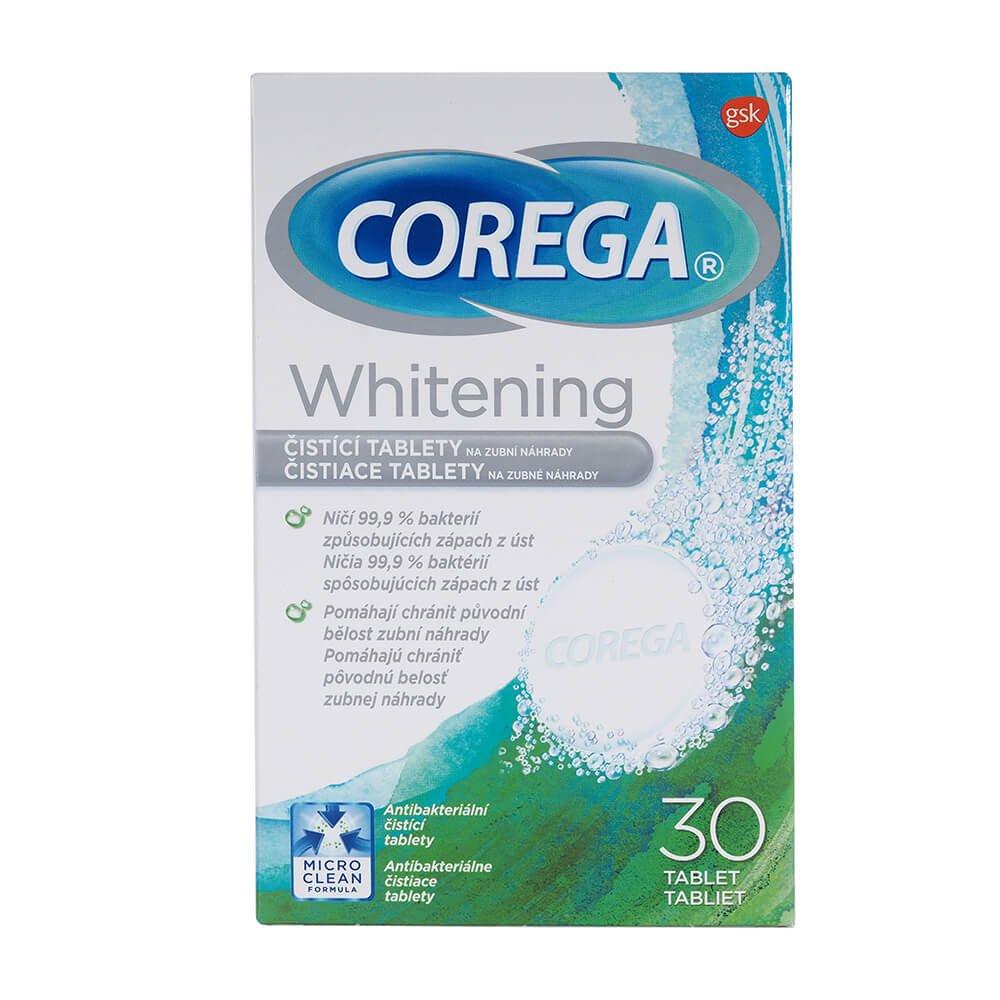 COREGA Whitening Čistící tablety 30 kusů