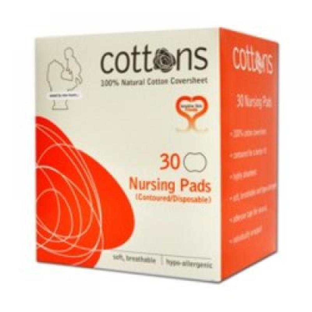 COTTONS Prsní vložky 30 kusů