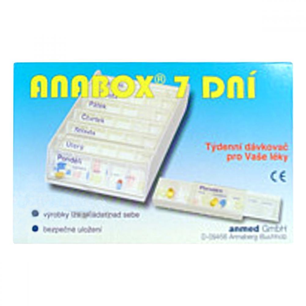 Dávkovač na léky ANABOX 7 dní bílý