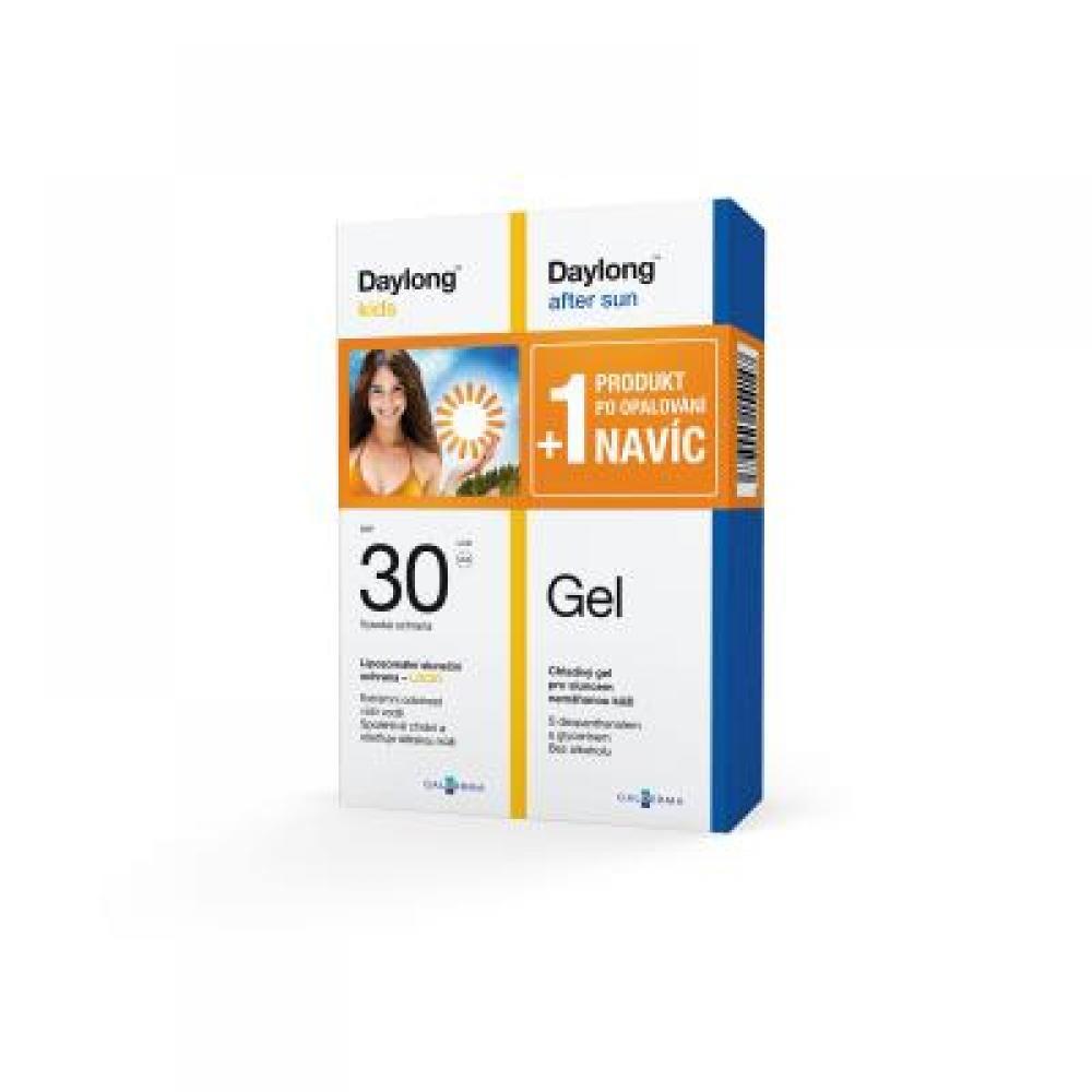 DAYLONG Kids SPF 30 Locio 200 ml + After Sun Gel 200 ml NAVÍC