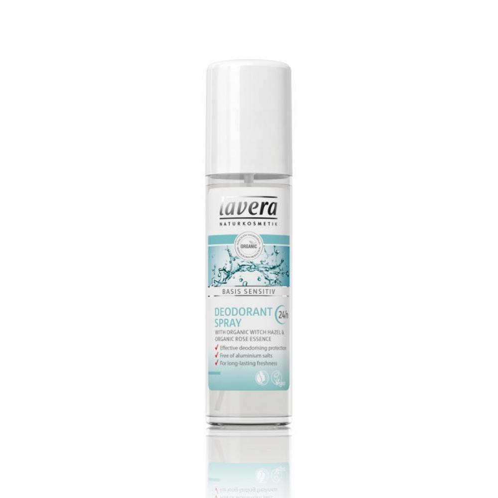 LAVERA Basis Sensitiv Deodorant ve spreji 75 ml