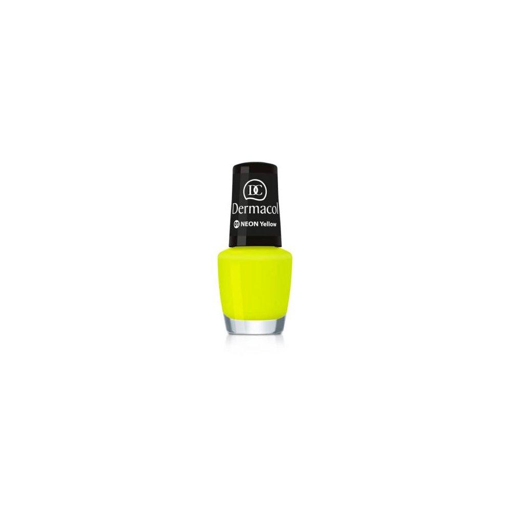 DERMACOL hladký neonový lak na nehty 5 ml