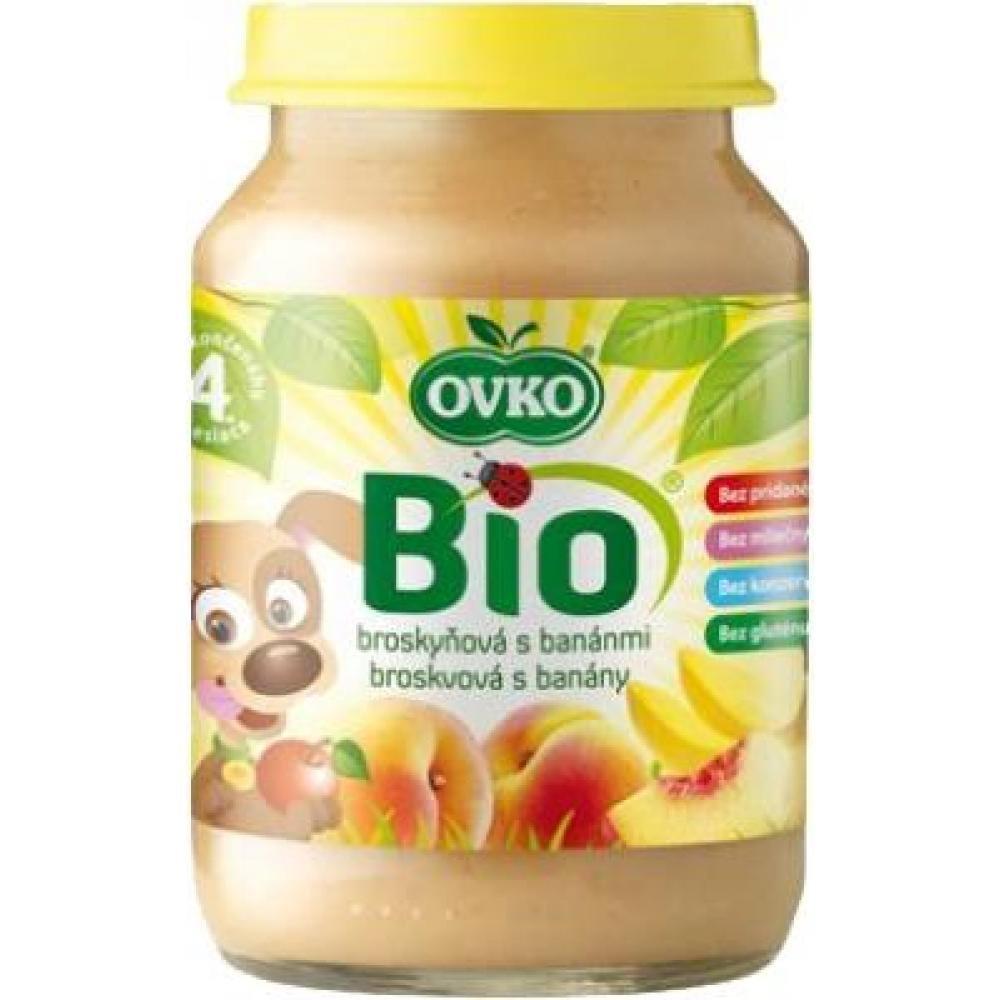 Dětská výživa broskvová s banány OVKO 190g - BIO