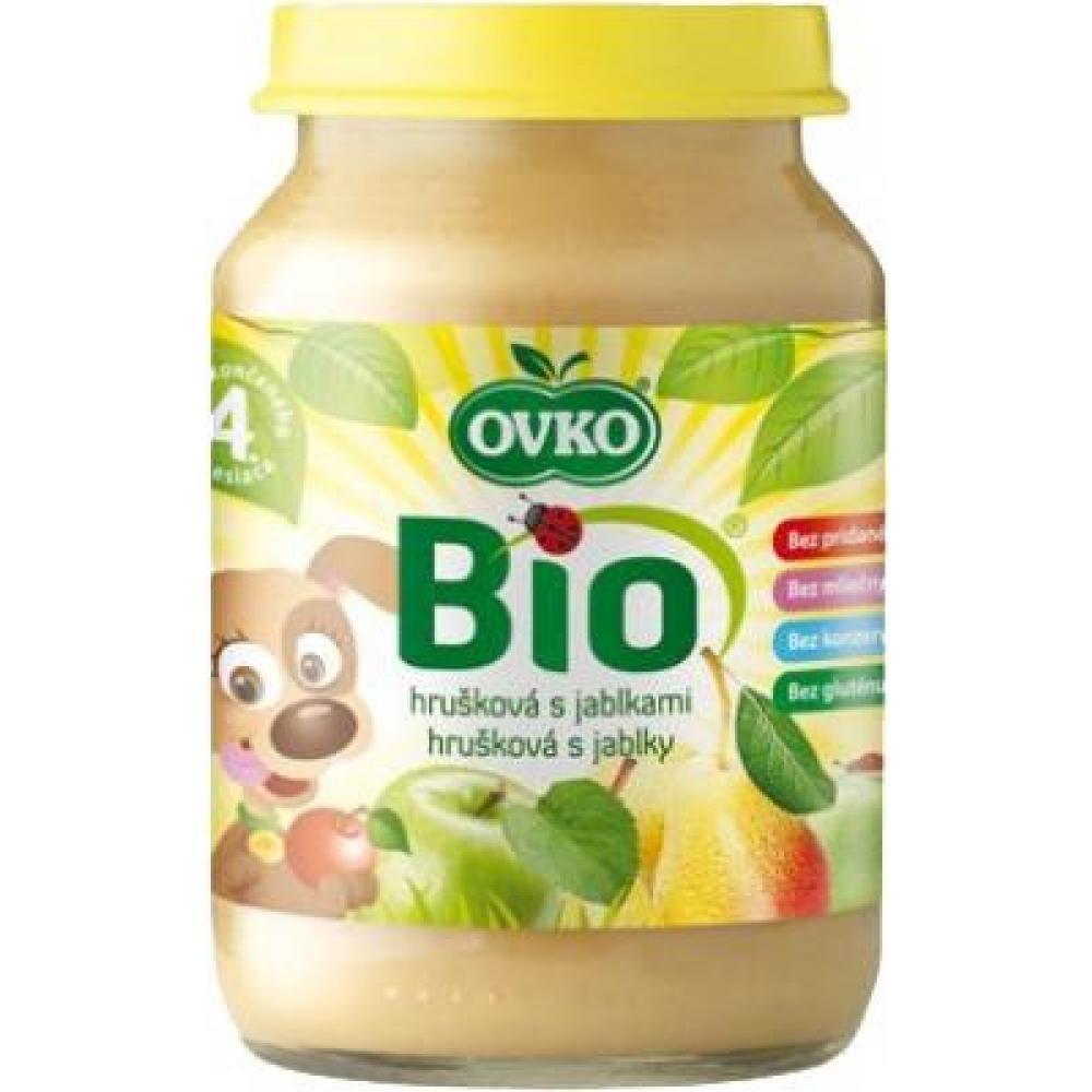 Dětská výživa hrušková s jablky OVKO 190g - BIO