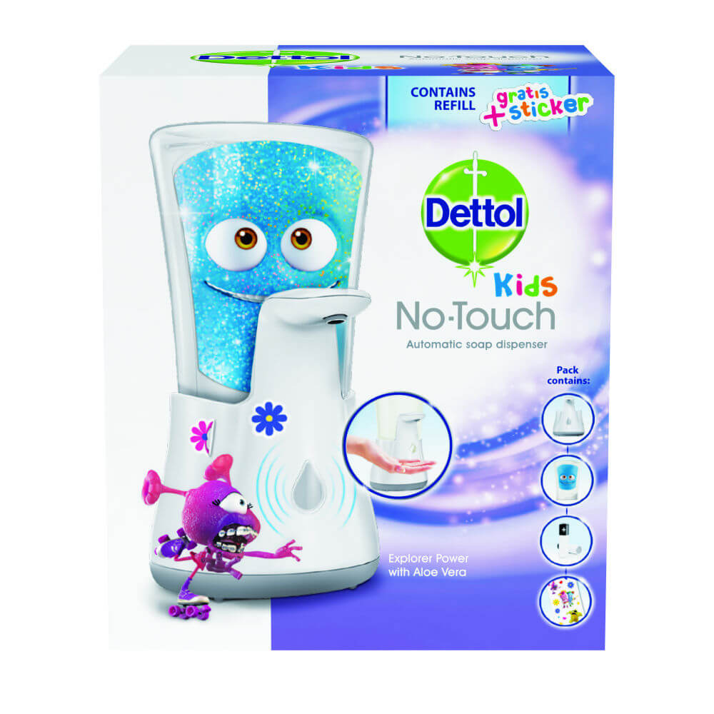DETTOL Kids Bezdotykový dávkovač mýdla Dobrodruh (250ml)