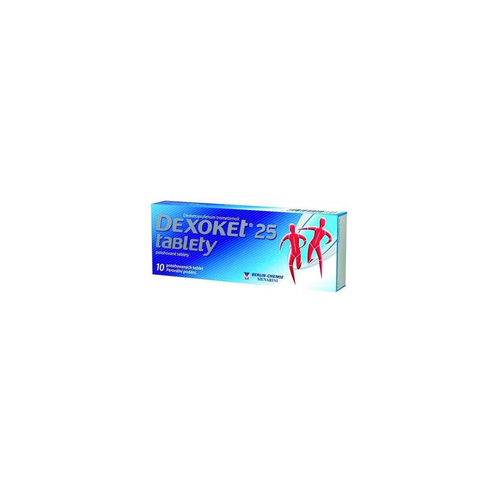 Dexoket 25 mg 10 tablet