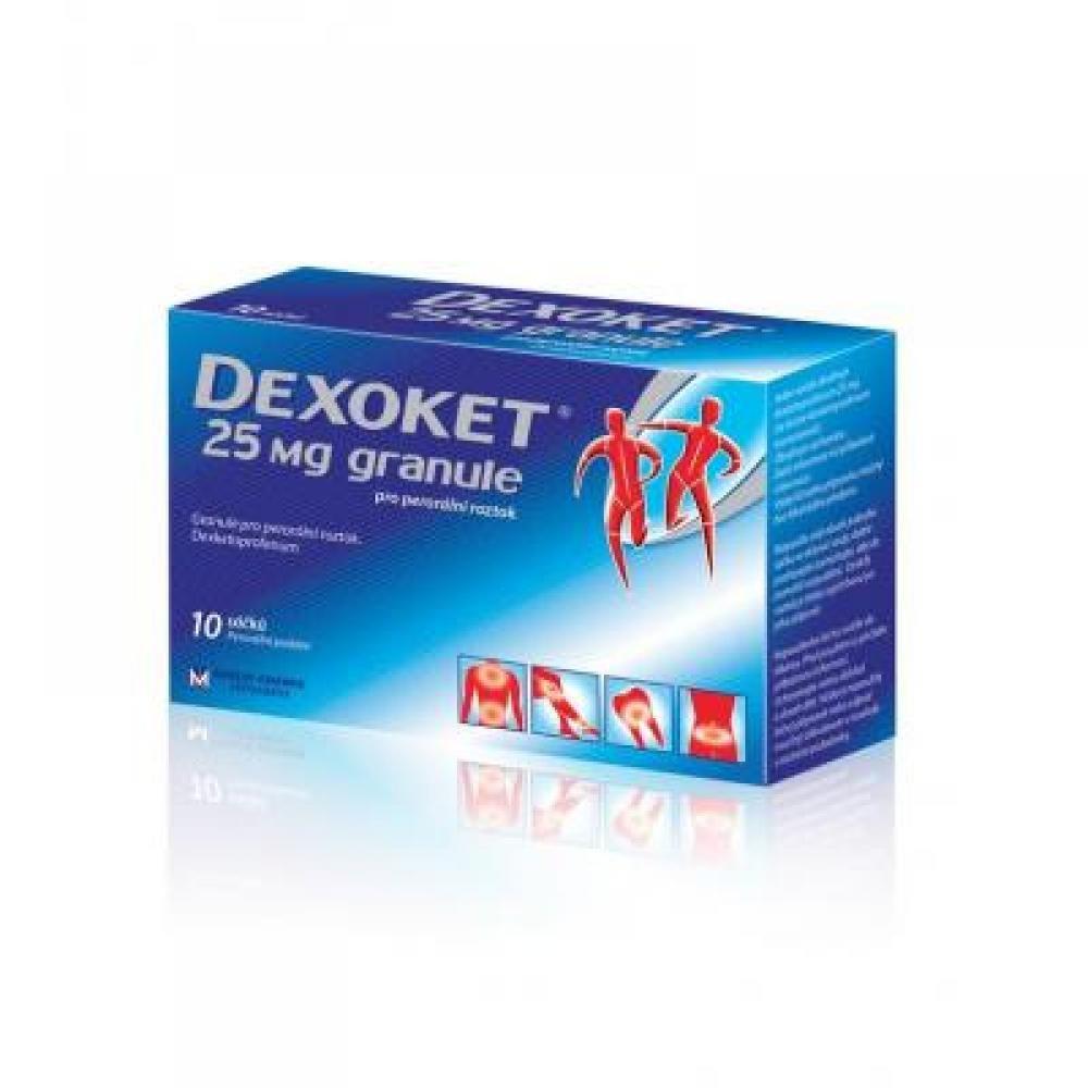 DEXOKET granule pro perorální roztok 10x25 mg