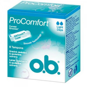 Tampony o.b.® ProComfort™ Light Days 8 kusů