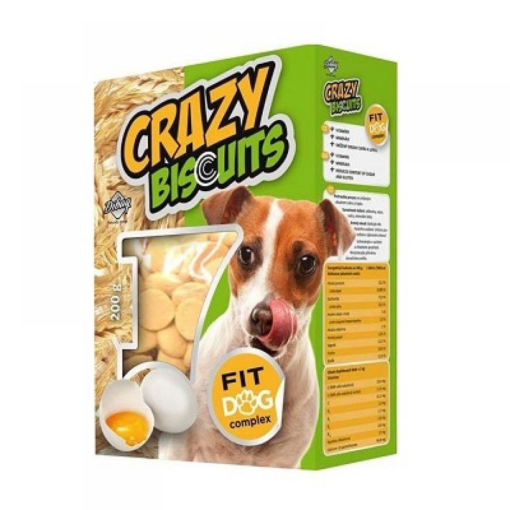 DIBAQ Piškoty Crazy Biscuits pro psy 180 g