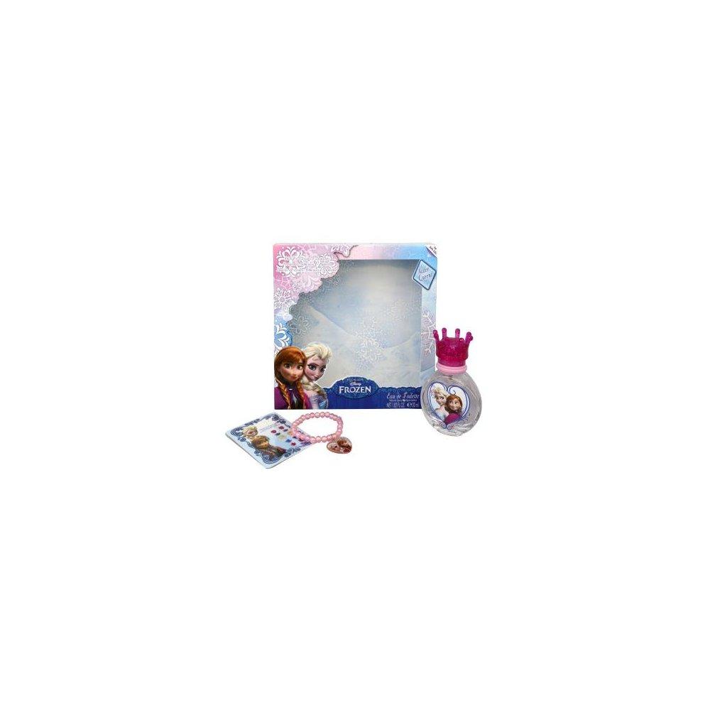 Disney Frozen toaletní voda s rozprašovačem 30 ml + nalepovací náušnice + náramek
