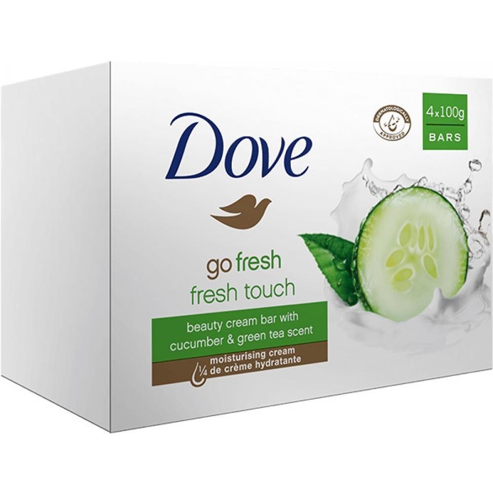 DOVE mýdlo 4x100g svěží dotek