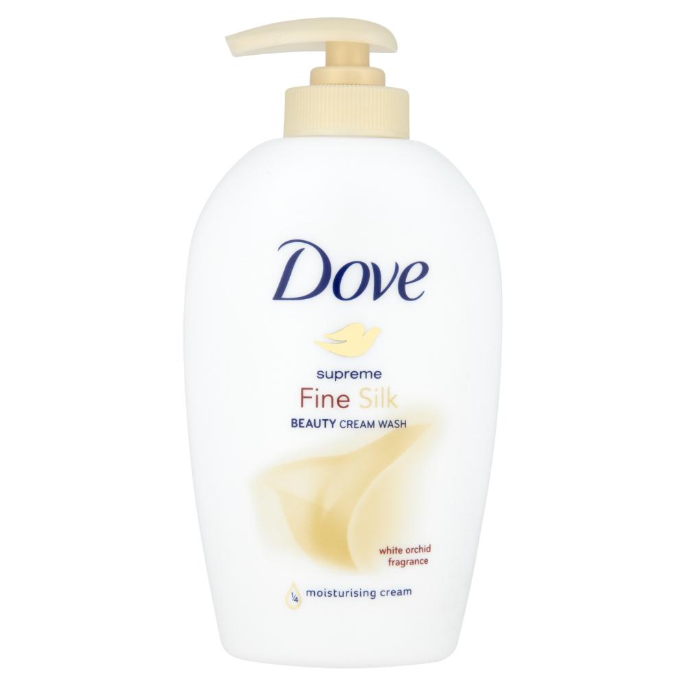 DOVE Supreme Silk - tekuté mýdlo s dávkovačem 250ml
