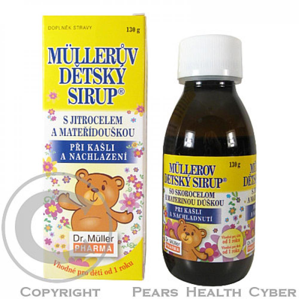 DR.MULLER dětský sirup s jitrocelem,mateřídouškou 130g