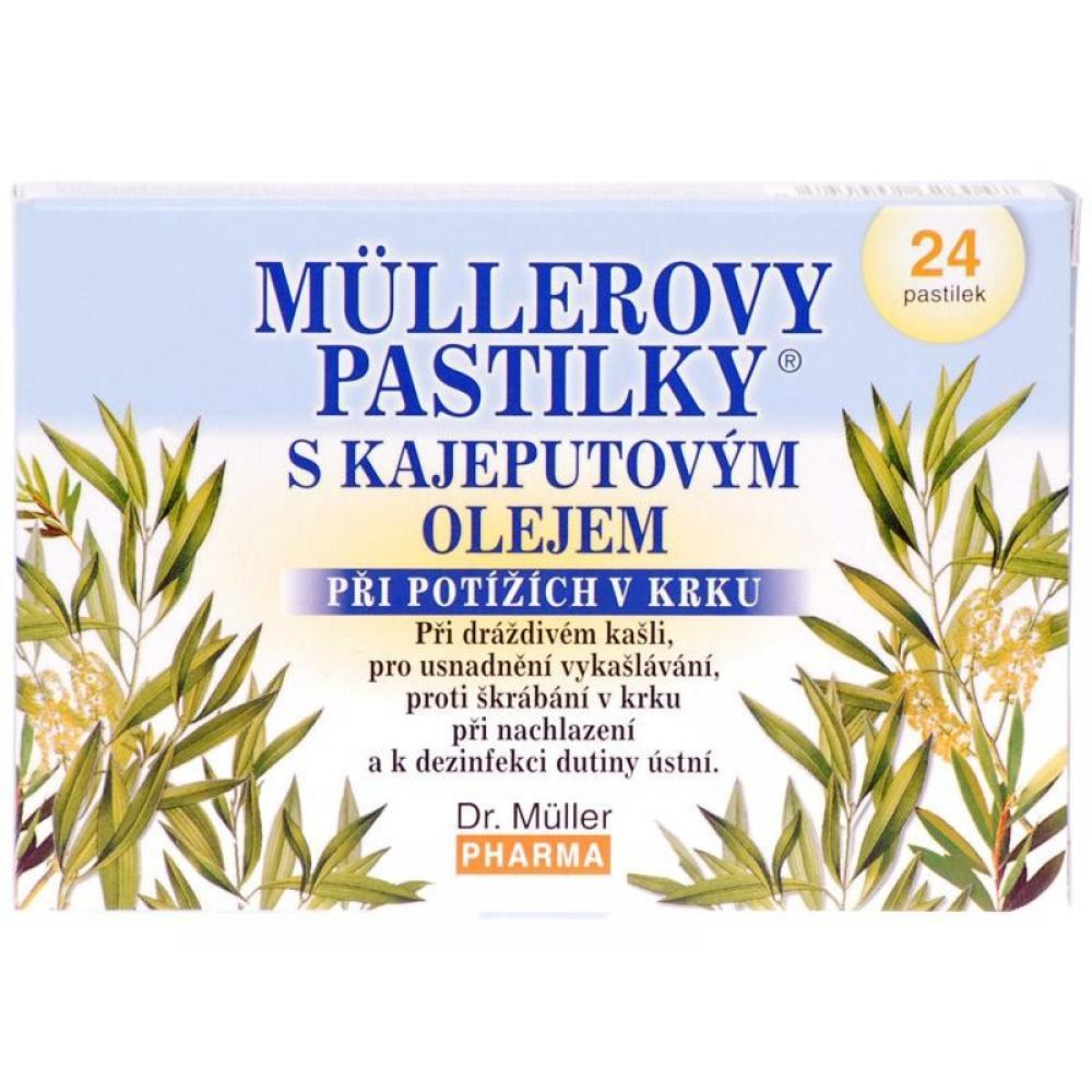 DR.MULLER Pastilky kajeputový olej 24ks