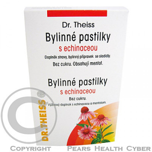 Dr.Theiss Pastilky bylinné s echinaceou 50g