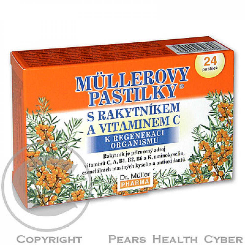 DR.MULLER pastilky rakytnik + vit.C 24ks
