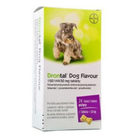 DRONTAL Dog Flavour 150/144/50 mg 24 tablet
